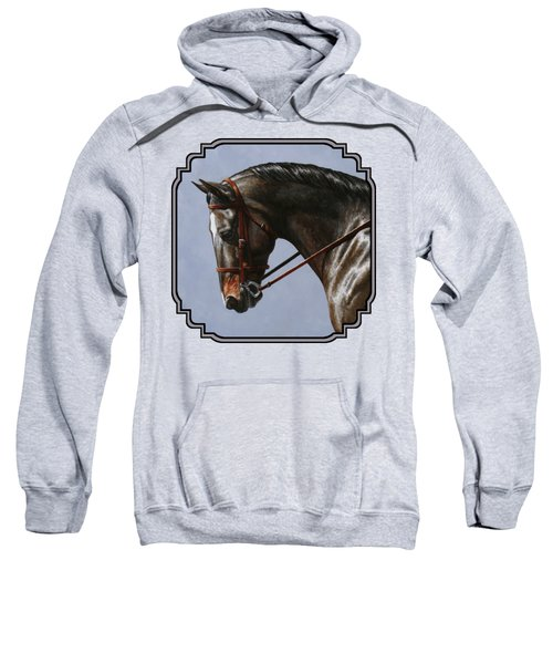 Brown Dressage Horse Phone Case Sweatshirt