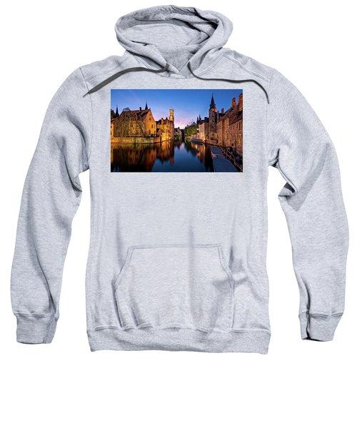 Bruges Canals At Blue Hour Sweatshirt