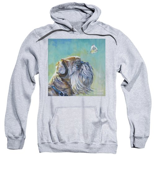 Brussels Griffon With Butterfly Sweatshirt