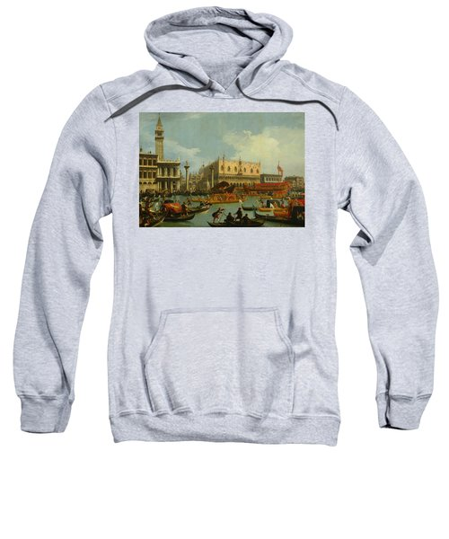 Bucentaur's Return To The Pier By The Palazzo Ducale Sweatshirt