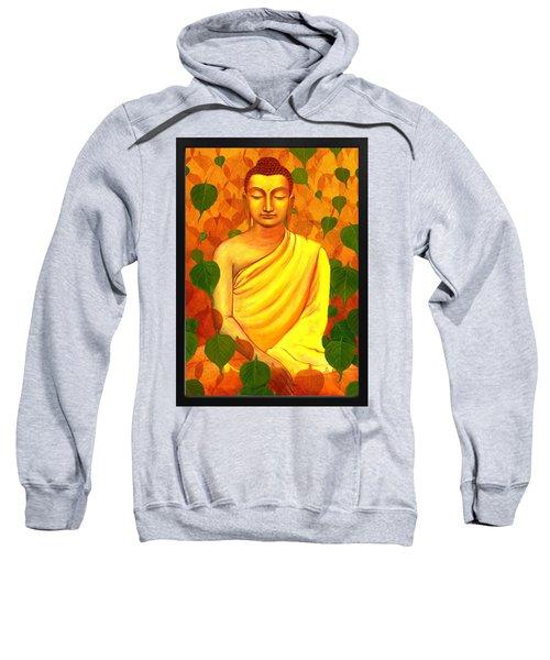 Buddha In Green Leaves Sweatshirt