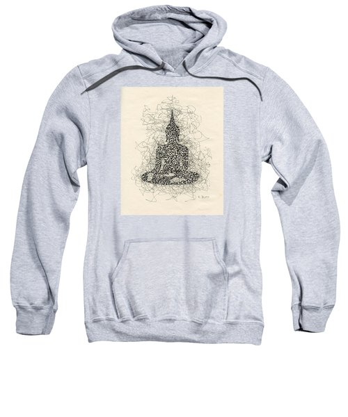 Buddha Pen And Ink Drawing Sweatshirt