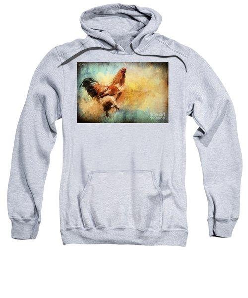 Buff Brahma Mrs. Darwin's Rooster  Sweatshirt