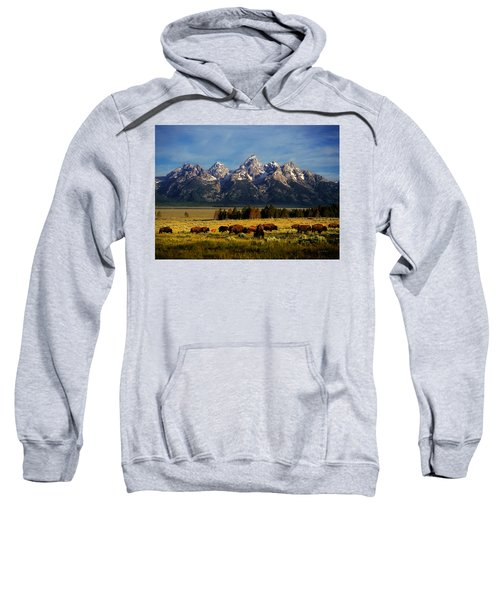 Buffalo Under Tetons Sweatshirt