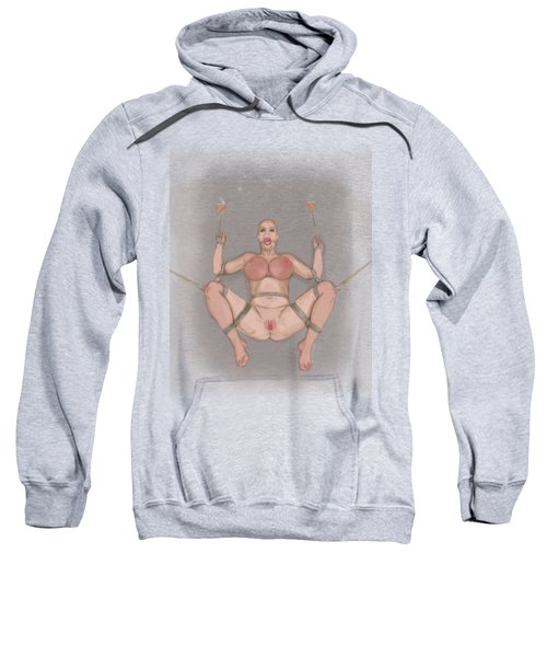 Sweatshirt featuring the mixed media Bug On Its Back 2 by TortureLord Art