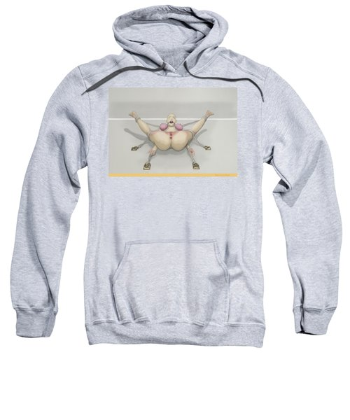 Sweatshirt featuring the mixed media Bug On Its Back by TortureLord Art