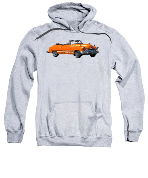 Buick Art In Orange Sweatshirt