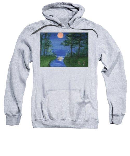 Bunnies In The Garden At Midnight Sweatshirt