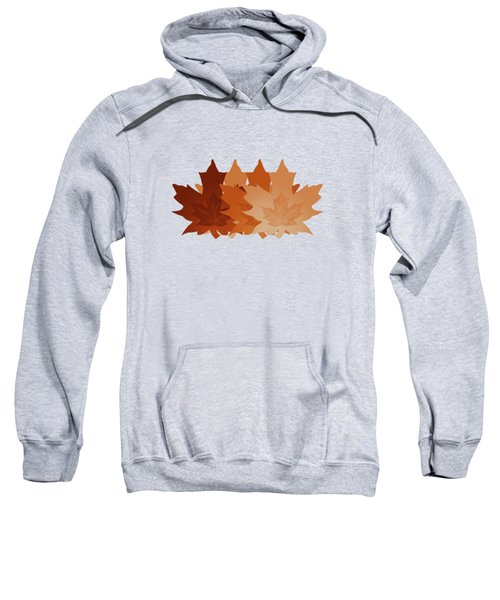Burnt Sienna Autumn Leaves Sweatshirt