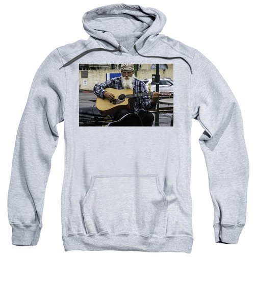 Busking In New Orleans, Louisiana Sweatshirt