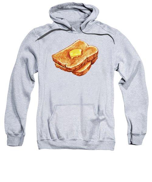 Buttered Toast Pattern Sweatshirt