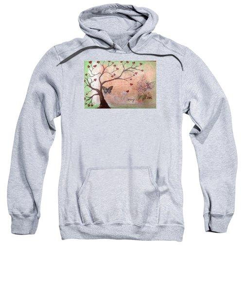 Butterfly Fairy Heart Tree Sweatshirt by Roxy Rich