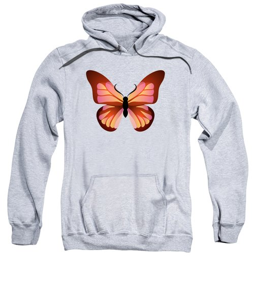 Butterfly Graphic Pink And Orange Sweatshirt