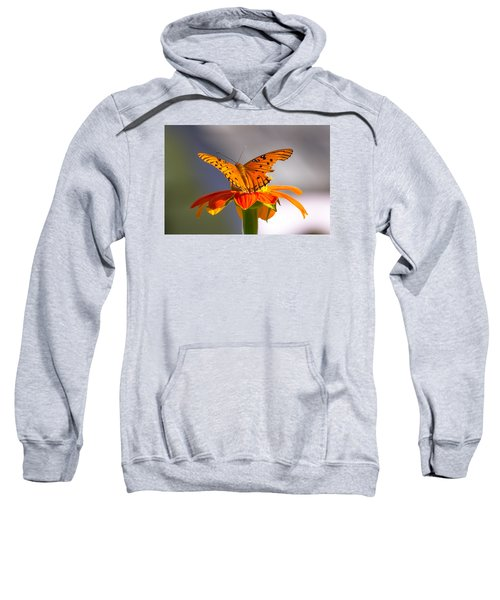 Butterfly On Flower Sweatshirt