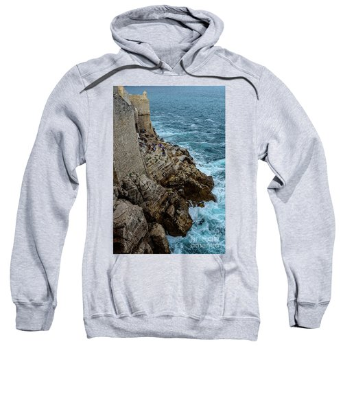 Buza Bar On The Adriatic In Dubrovnik Croatia Sweatshirt