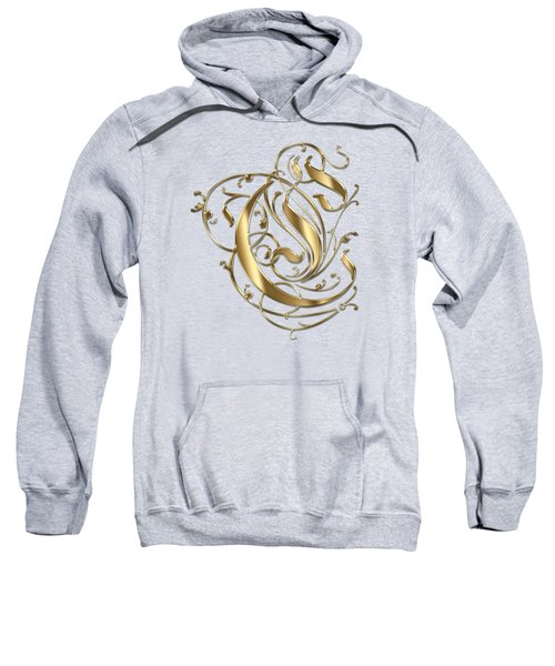 C Ornamental Letter Gold Typography Sweatshirt