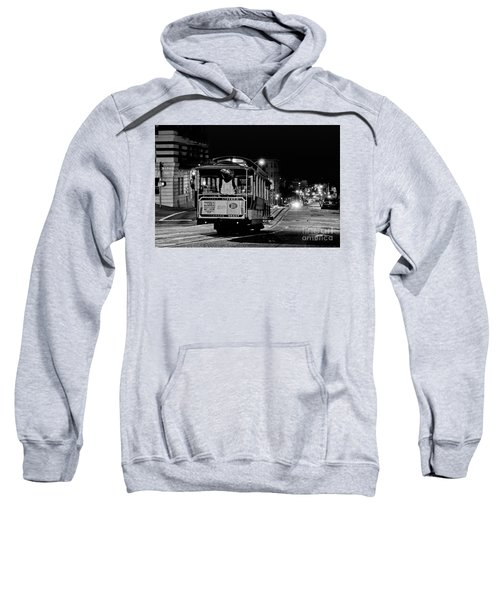 Cable Car At Night - San Francisco Sweatshirt