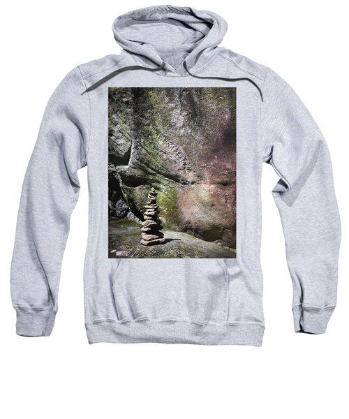 Cairn Rock Stack At Jones Gap State Park Sweatshirt