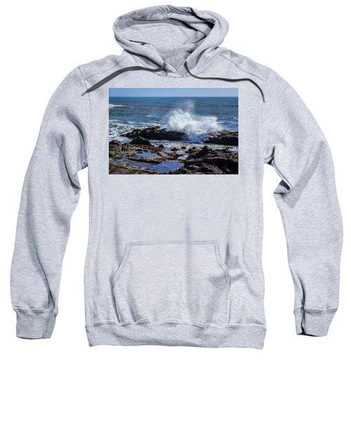 Wave Crashing On California Coast Sweatshirt