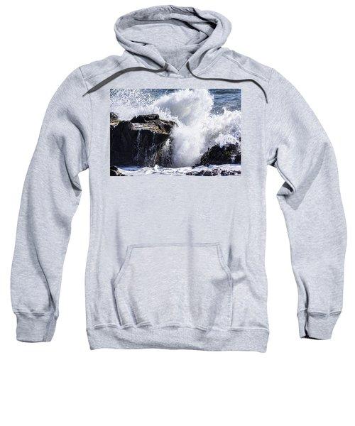 California Coast Wave Crash 6 Sweatshirt