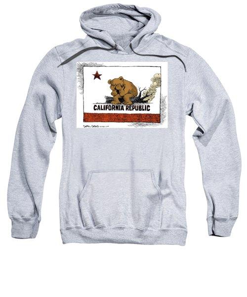 California Fire Bear Grieves Sweatshirt