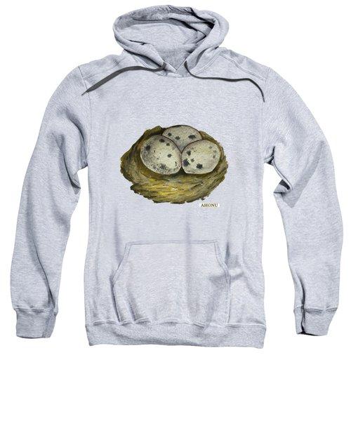 California Quail Eggs In Nest Sweatshirt