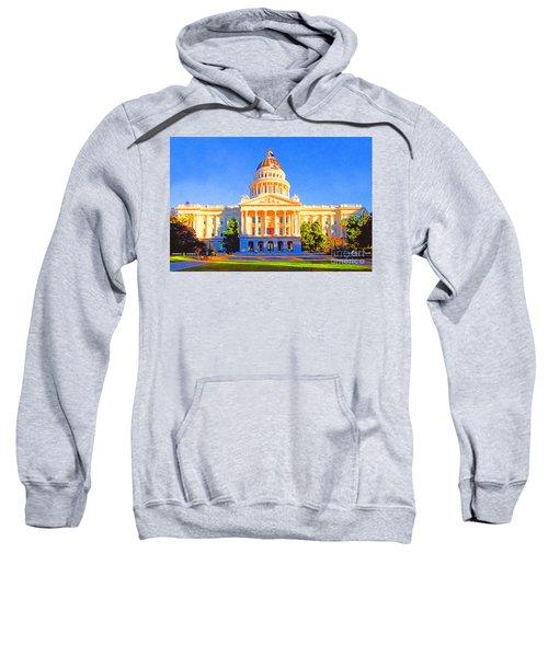 California State Capitol . Painterly Sweatshirt