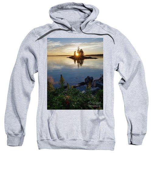 Calm Water At Sunset, Harpswell, Maine -99056-99058 Sweatshirt