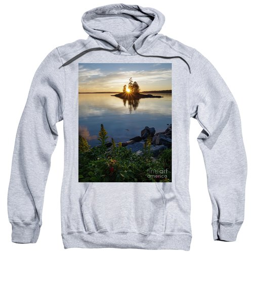 Calm Water At Sunset, Harpswell, Maine -99056-99058 Sweatshirt