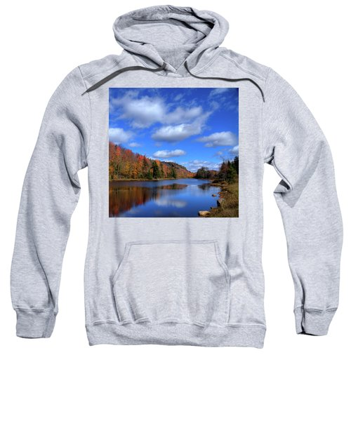Calmness On Bald Mountain Pond Sweatshirt by David Patterson