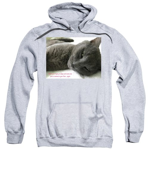 Sweatshirt featuring the photograph Resting Face by Debbie Cundy