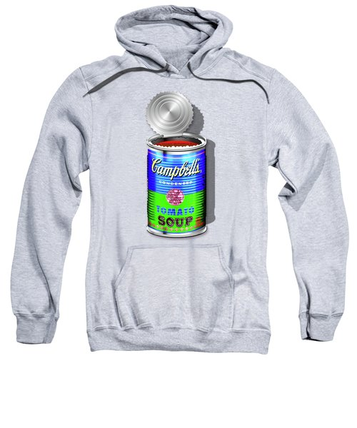 Campbell's Soup Revisited - Blue And Green Sweatshirt by Serge Averbukh
