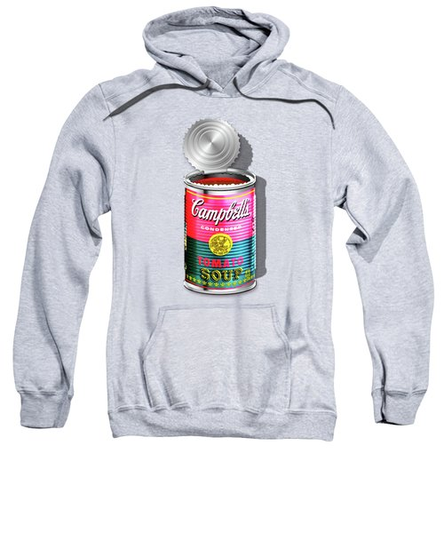 Campbell's Soup Revisited - Pink And Green Sweatshirt by Serge Averbukh