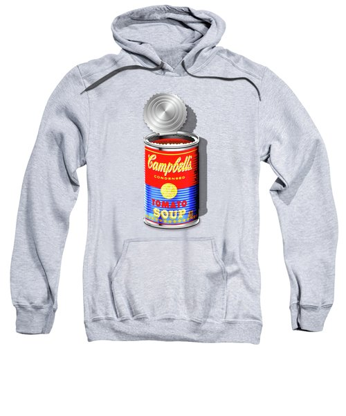 Campbell's Soup Revisited - Red And Blue   Sweatshirt by Serge Averbukh