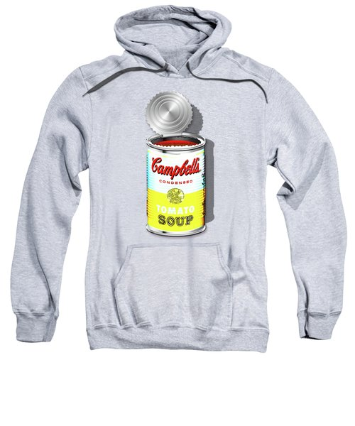Campbell's Soup Revisited - White And Yellow Sweatshirt by Serge Averbukh