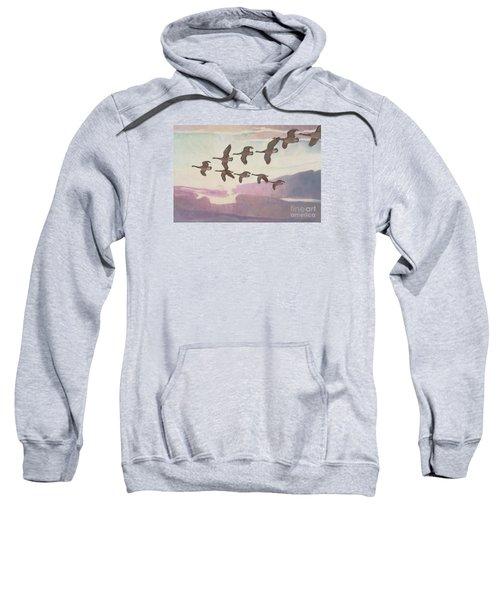 Canada Geese In Spring Sweatshirt