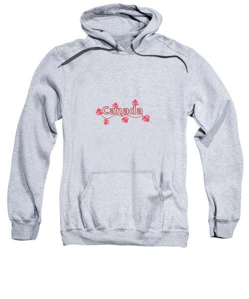 Canada Maple Leaf Sweatshirt by Kathleen Sartoris