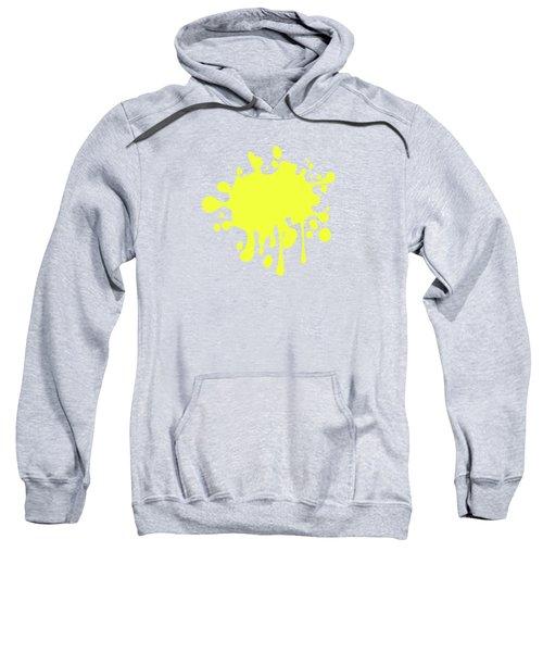 Canary Yellow Solid Color Decor Sweatshirt