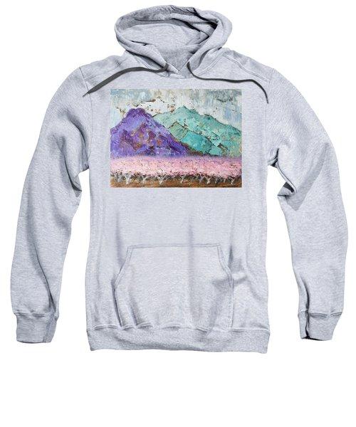 Canigou With Blooming Peach Trees Sweatshirt