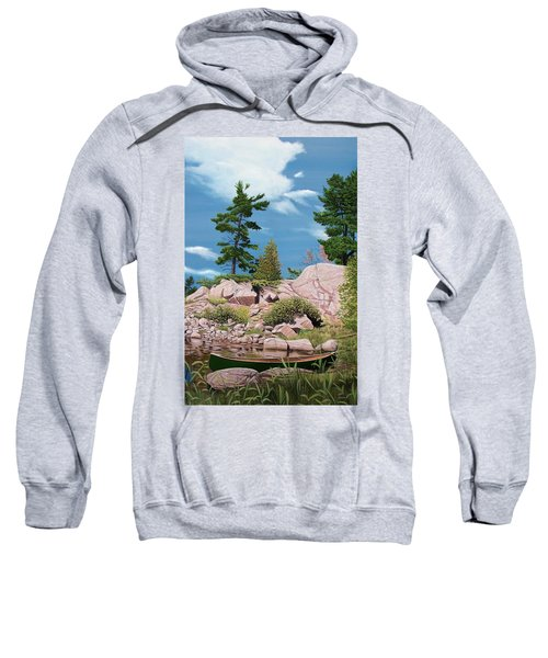 Canoe Among The Rocks Sweatshirt
