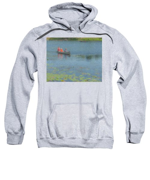 Canoes On Shovelshop Pond Sweatshirt