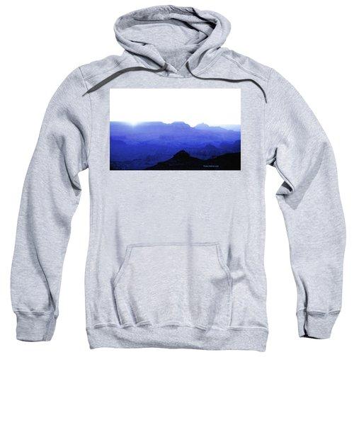 Canyon In Blue Sweatshirt