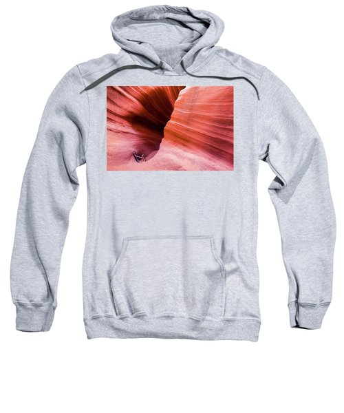 Sweatshirt featuring the photograph Canyon Ladder by Stephen Holst