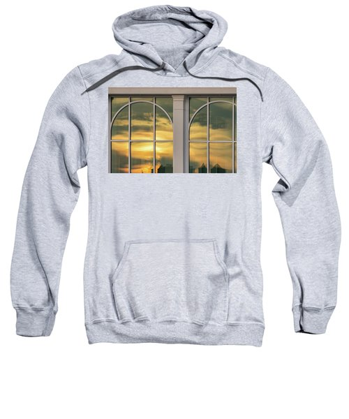 Cape May Abstract Sunset Reflection Sweatshirt