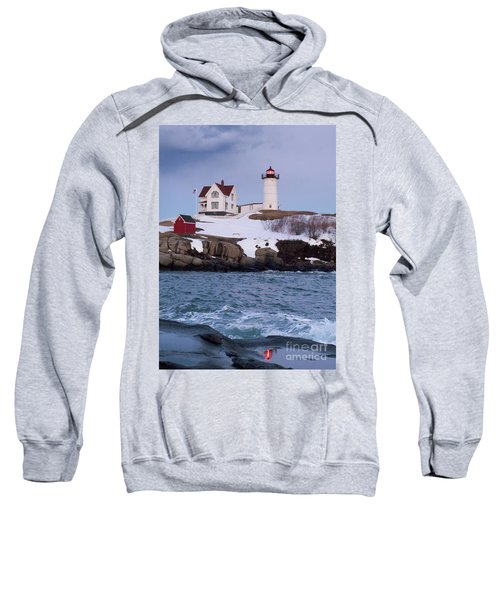 Cape Neddick Light At Dusk, York, Maine 21073 Sweatshirt