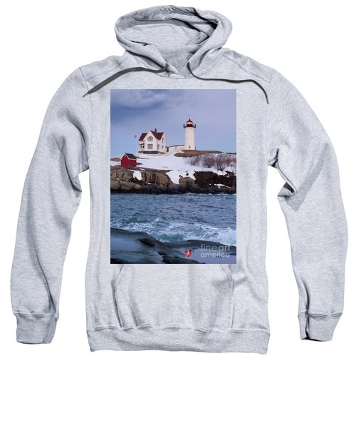 Cape Neddick Light At Dusk, York, Maine 21073 Sweatshirt