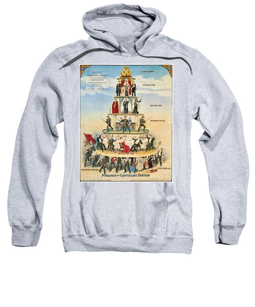 Capitalist Pyramid, 1911 - To License For Professional Use Visit Granger.com Sweatshirt