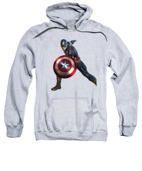 Captain America Splash Super Hero Series Sweatshirt