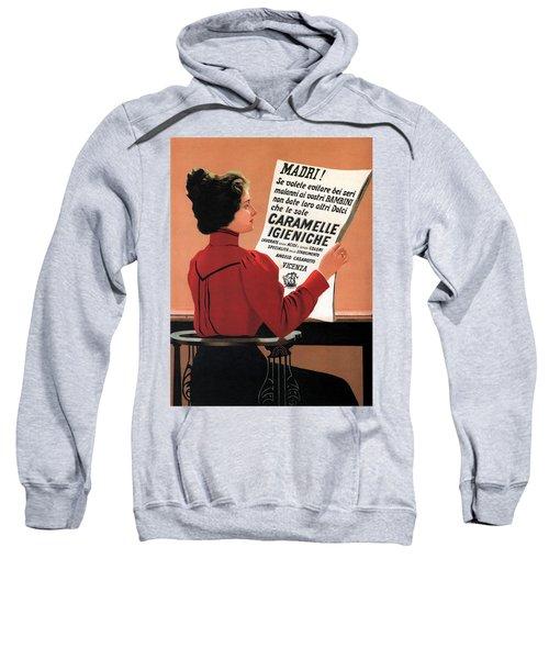 Caramelle Igieniche - Vicenza, Italy - Vintage Advertising Poster Sweatshirt