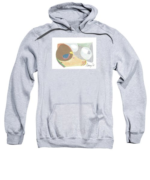 Sweatshirt featuring the drawing Card 5 by Rod Ismay